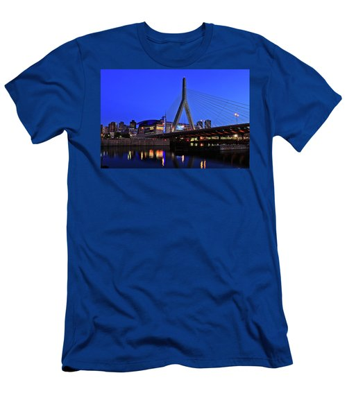 Boston Garden And Zakim Bridge Men's T-Shirt (Athletic Fit)