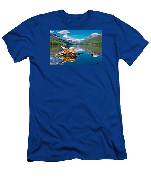 Bowman Lake 1, Glacier Nat'l Park Men's T-Shirt (Athletic Fit)
