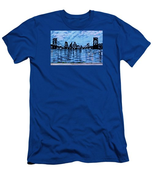 Bridges To New York Men's T-Shirt (Athletic Fit)