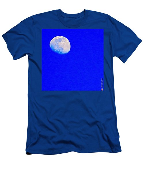 #bright #blue #sky And A #daytime #moon Men's T-Shirt (Athletic Fit)