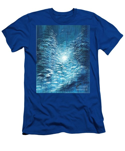 Men's T-Shirt (Slim Fit) featuring the painting Brite Nite by Holly Carmichael