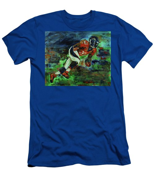 Broncos - Orange And Blue Horse Power Men's T-Shirt (Slim Fit) by Walter Fahmy