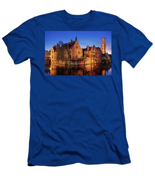 Bruges Architecture At Blue Hour Men's T-Shirt (Athletic Fit)