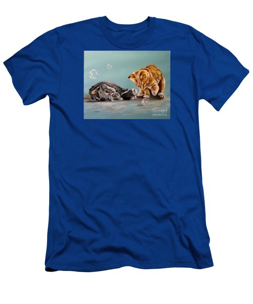 Bubble Cats Men's T-Shirt (Athletic Fit)