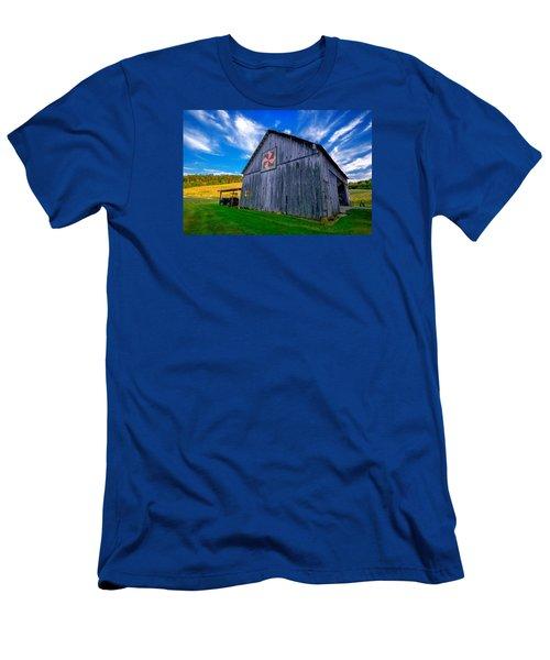 Buckeye Barn 2 Men's T-Shirt (Slim Fit) by Brian Stevens