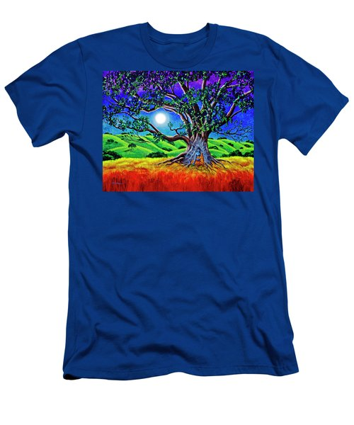 Buddha Healing The Earth Men's T-Shirt (Slim Fit) by Laura Iverson
