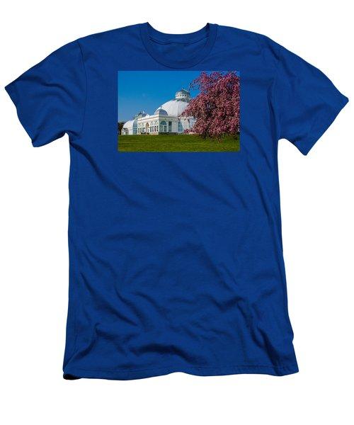 Buffalo Botanical Gardens North Lawns Men's T-Shirt (Slim Fit) by Don Nieman