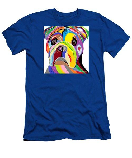 Bulldog Men's T-Shirt (Slim Fit) by Eloise Schneider