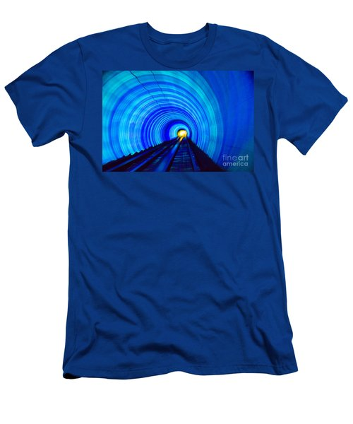 Men's T-Shirt (Athletic Fit) featuring the photograph Bund Tunnel Lights by Angela DeFrias
