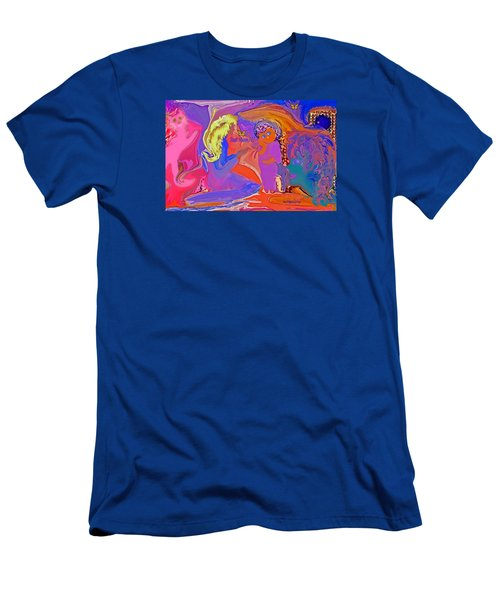 Men's T-Shirt (Slim Fit) featuring the painting  Fun Art But Mom by Sherri  Of Palm Springs