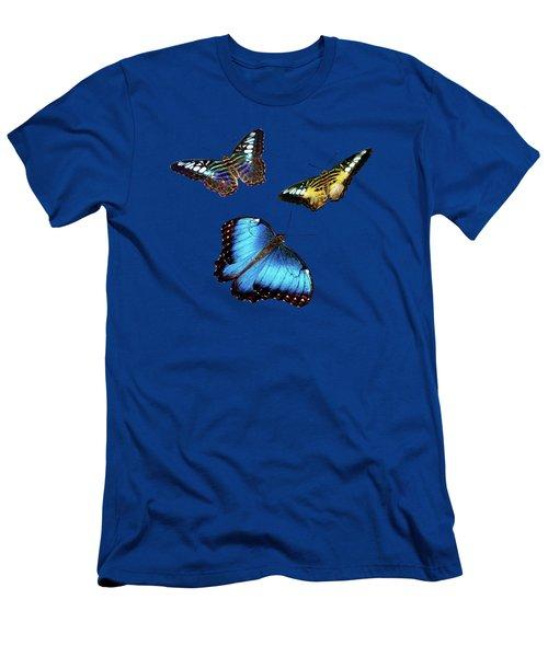 Butterflies Men's T-Shirt (Slim Fit) by Phyllis Denton