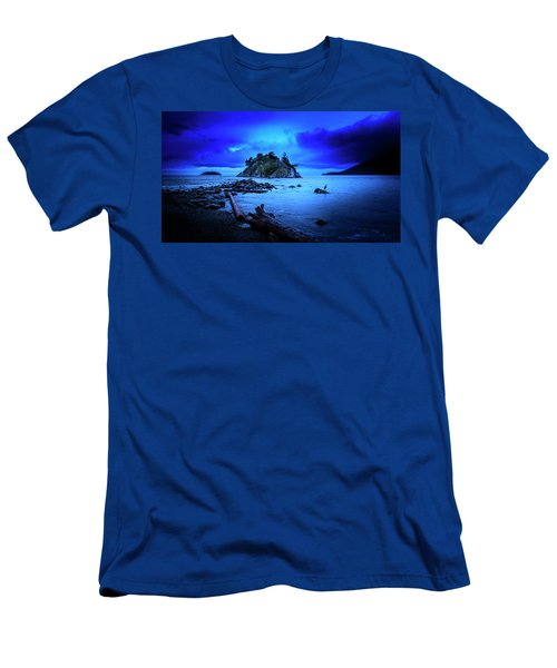 Men's T-Shirt (Athletic Fit) featuring the photograph By The Light Of The Moon by John Poon