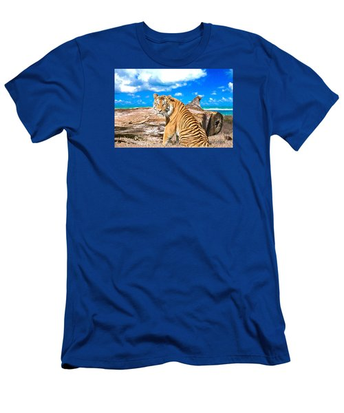 By The Sea Men's T-Shirt (Slim Fit) by Judy Kay