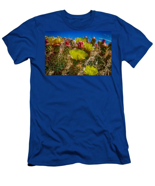 Men's T-Shirt (Slim Fit) featuring the digital art Cactus At The End Of The Road by Bartz Johnson