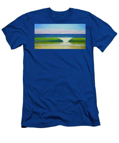 Men's T-Shirt (Athletic Fit) featuring the painting Califia Beach by Mary Scott