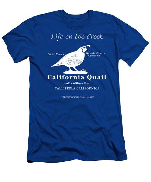 California Quail - White Graphics Men's T-Shirt (Athletic Fit)