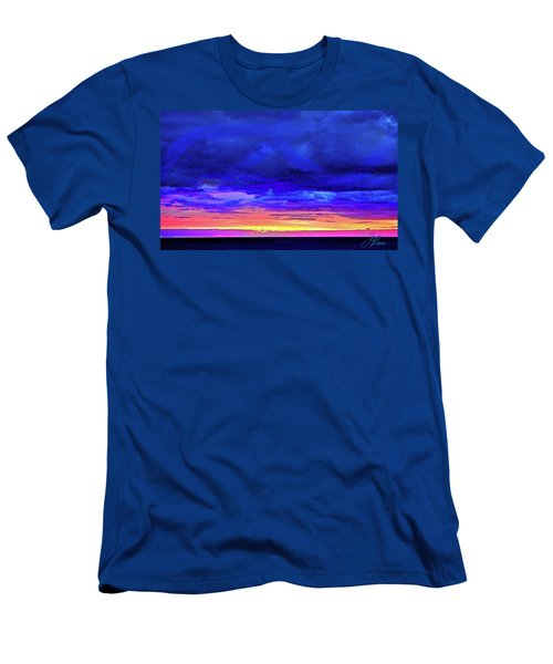 Men's T-Shirt (Athletic Fit) featuring the painting California Sunrise by Joan Reese