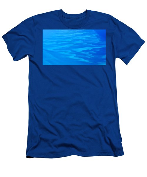Men's T-Shirt (Slim Fit) featuring the photograph Caribbean Ocean Abstract by Jetson Nguyen
