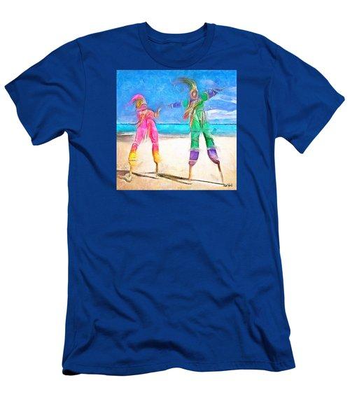 Caribbean Scenes - Moko Jumbie Men's T-Shirt (Slim Fit) by Wayne Pascall