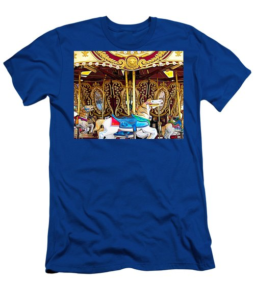 Carousel Erie County Fair 2017 Expressionist Effect Men's T-Shirt (Athletic Fit)