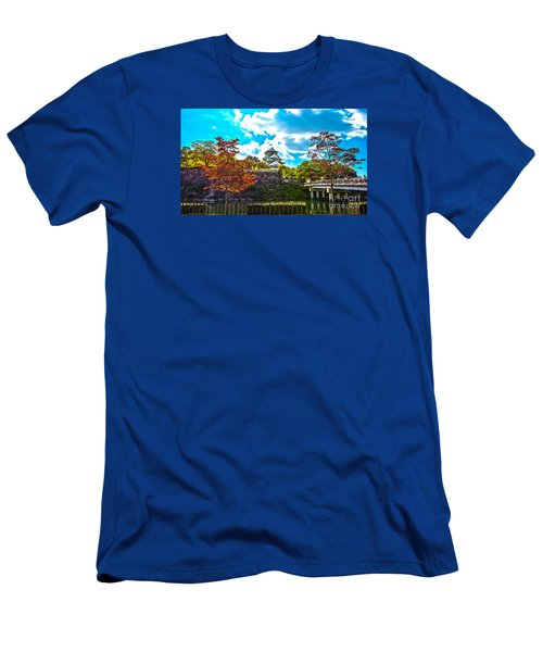 Men's T-Shirt (Slim Fit) featuring the photograph Castle In Osaka by Pravine Chester