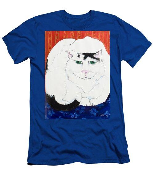 Cat II - Cat Dozing Off Men's T-Shirt (Slim Fit) by Leela Payne