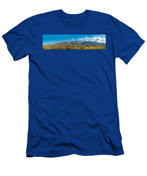 Men's T-Shirt (Slim Fit) featuring the photograph Catalina Mountain Panorama by Dan McManus