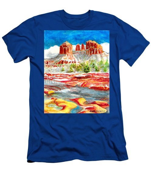 Cathedral Rock Crossing Men's T-Shirt (Slim Fit) by Eric Samuelson
