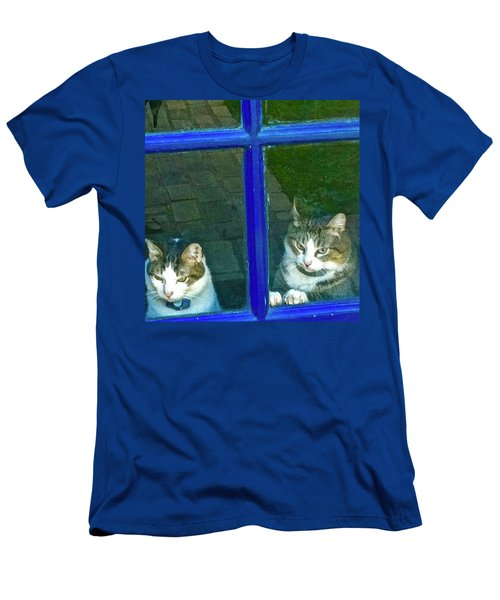 Cats On Baylor Street Men's T-Shirt (Athletic Fit)