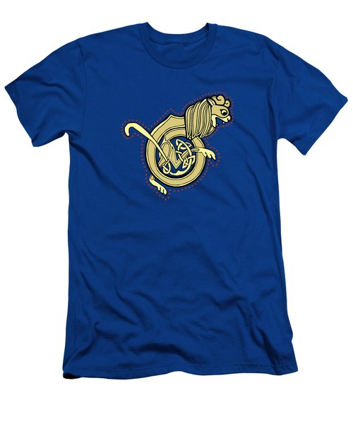 Celtic Lion Letter B Men's T-Shirt (Athletic Fit)