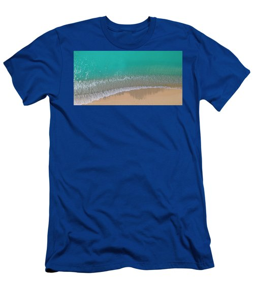 Men's T-Shirt (Athletic Fit) featuring the photograph Cemetery Beach Aerial Panoramic by Adam Romanowicz