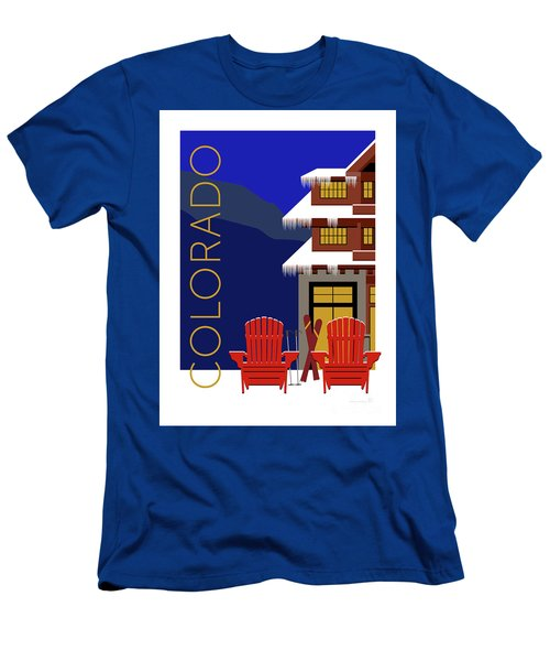 Men's T-Shirt (Athletic Fit) featuring the digital art Colorado Chairs by Sam Brennan