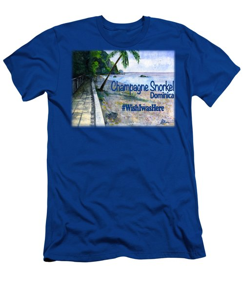 Champagne Snorkel Dominica Shirt Men's T-Shirt (Athletic Fit)