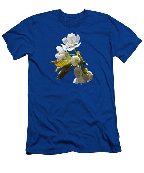 Cherry Blossoms Men's T-Shirt (Slim Fit) by Christina Rollo