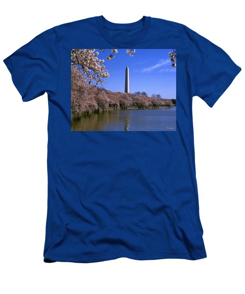 Cherry Blossoms On The Tidal Basin 15j Men's T-Shirt (Athletic Fit)
