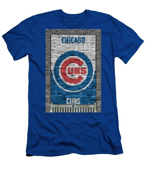 Chicago Cubs Brick Wall Men's T-Shirt (Athletic Fit)