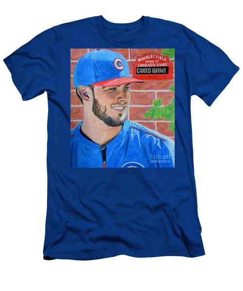 Chicago Cubs Kris Bryant Portrait Men's T-Shirt (Athletic Fit)