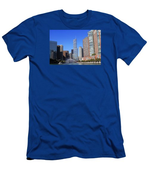 Chicago River Men's T-Shirt (Athletic Fit)
