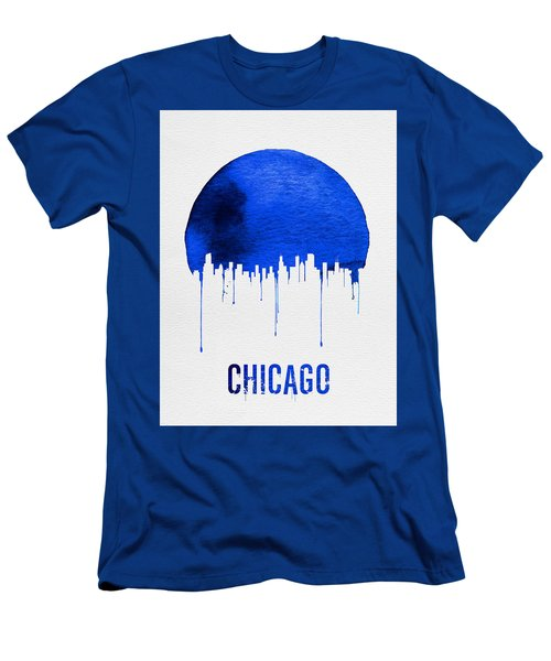 Chicago Skyline Blue Men's T-Shirt (Athletic Fit)