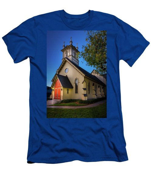 Men's T-Shirt (Athletic Fit) featuring the photograph Christ Episcopal Church by Allin Sorenson