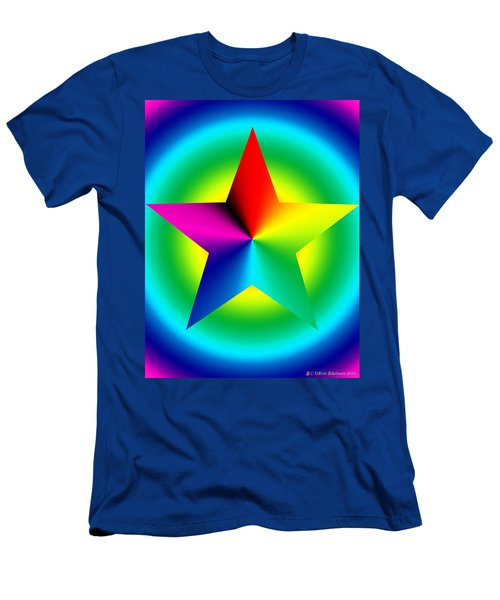 Chromatic Star With Ring Gradient Men's T-Shirt (Athletic Fit)