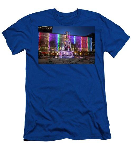 Cincinnati Fountain Square Men's T-Shirt (Slim Fit) by Scott Meyer