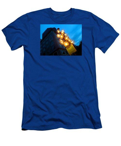 Circles Of Light  Men's T-Shirt (Athletic Fit)
