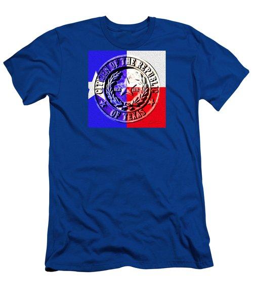 Citizen Of The Republic Of Texas Men's T-Shirt (Slim Fit) by Robert J Sadler
