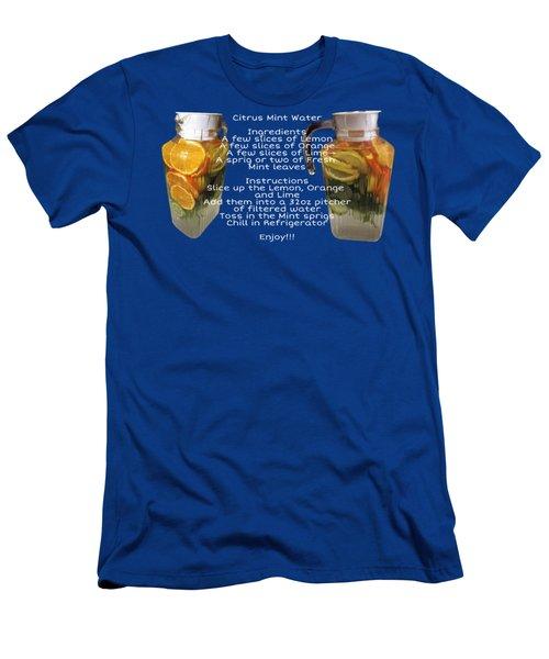 Citrus Mint Water Men's T-Shirt (Athletic Fit)