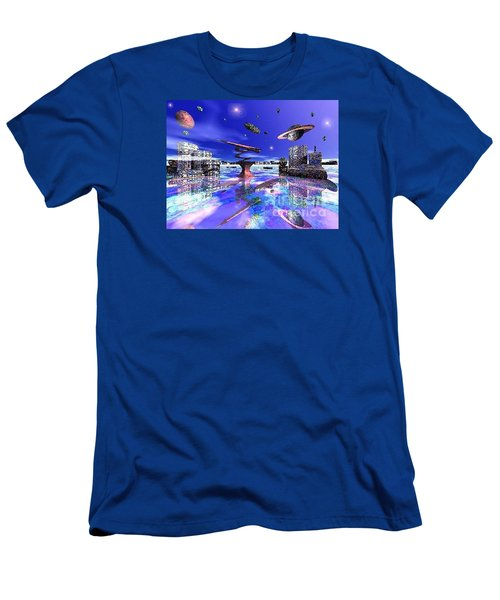 City Of New Horizions Men's T-Shirt (Slim Fit) by Jacqueline Lloyd