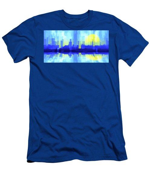 City Sun Silhouette Men's T-Shirt (Athletic Fit)