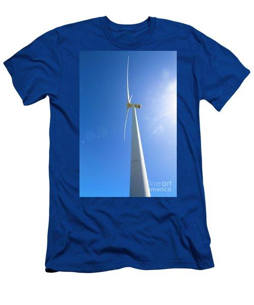 Clean Blue Energy Men's T-Shirt (Athletic Fit)