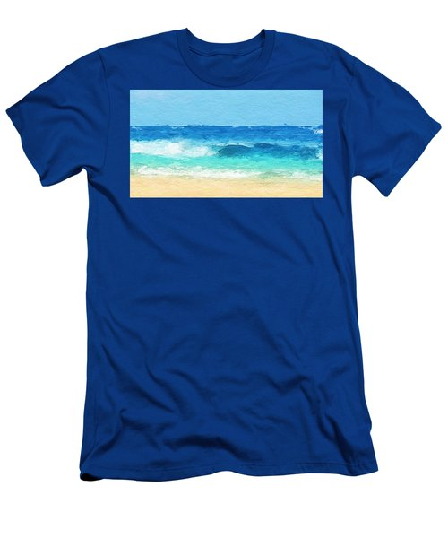 Clear Blue Waves Men's T-Shirt (Slim Fit) by Anthony Fishburne