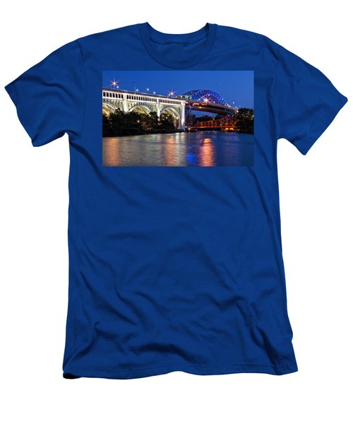 Cleveland Colored Bridges Men's T-Shirt (Athletic Fit)